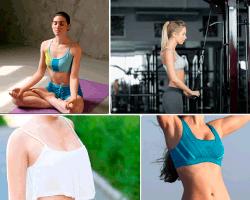 Apensar mujer haciendo yoga