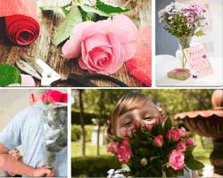 Apensar flor rosada