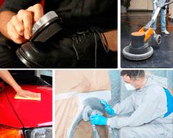 apensar limpiando zapatos