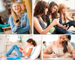 apensar mujer con celular