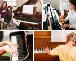 Apensar madre e hija tocando música