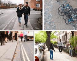 Apensar pareja paseando