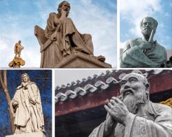 Apensar estatuas de piedra