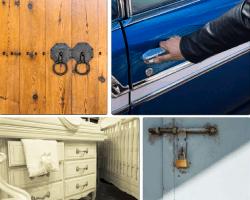 apensar puerta de madera