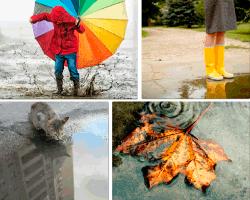 apensar paraguas de colores