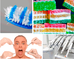Apensar cepillo de dientes