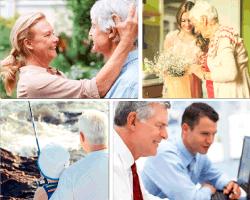 Apensar señora acariciando a su marido