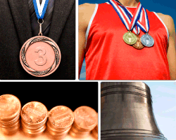 Apensar medallas