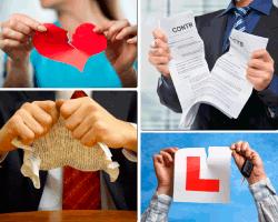 Apensar corazón de papel roto