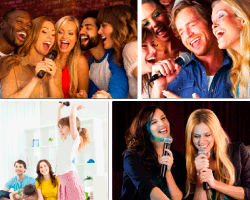 apensar amigos cantando