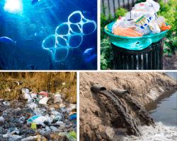 Apensar plastico en el mar