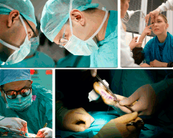 Apensar médicos operando