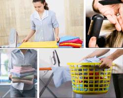 apensar mujer doblando toallas