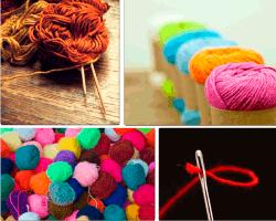Apensar lana de colores