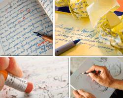 Apensar escritos con pluma