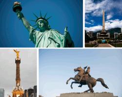 apensar estatua de la libertad