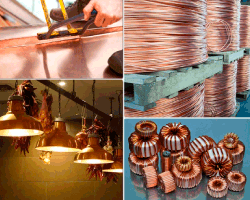 Apensar cables cobre