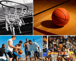 apensar pelota de basketball