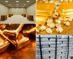 apensar lingotes oro