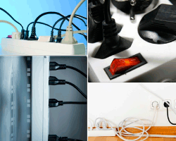 apensar cables electricos