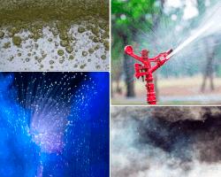 Apensar aspersor de agua a - Aspersor de agua ...