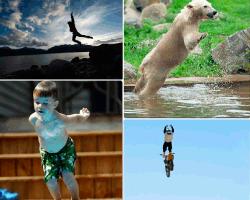 apensar salto al agua