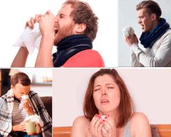 apensar senor estornudando