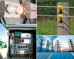 apensar chispas de electricidad