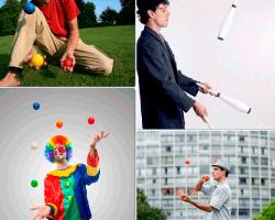 apensar payaso pelotas de colores