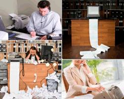 Apensar oficinas llenas de papeles