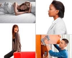 Apensar mujer acostada