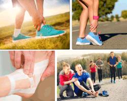 apensar lesión en el pie