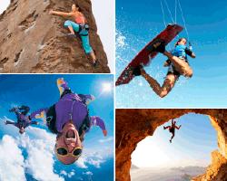 Apensar mujer escalando