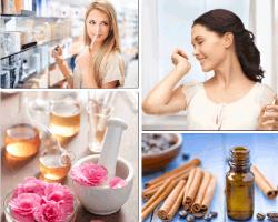 Apensar mujer perfumandose