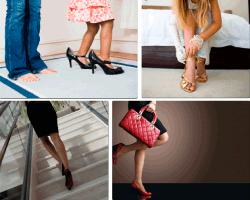 Apensar niña con zapatos grandes