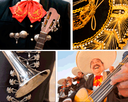 Apensar mexicano tocando guitarra