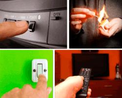 Apensar botón power