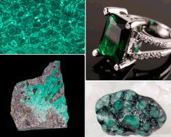 apensar piedras verdes