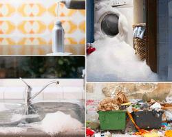 apensar lavadora con espuma
