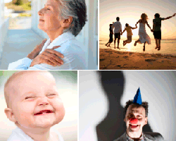 apensar bebe sonriendo payaso