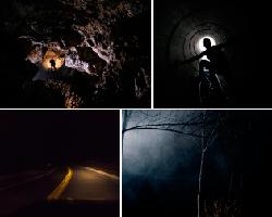 apensar hombre en tunel