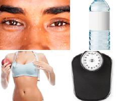 apensar cara sudada botella de agua