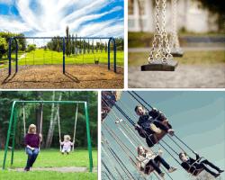 Apensar niños parque