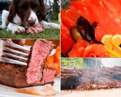 Apensar salmón carne