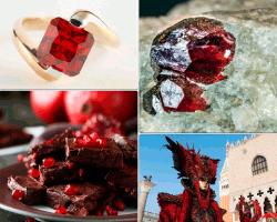 Apensar joya rubí