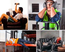 Apensar hombre sillón