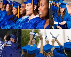 apensar graduados de azul