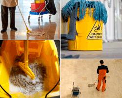 Apensar persona limpiando