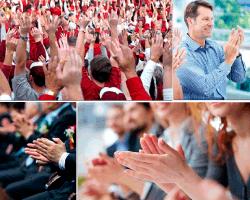 Apensar público aplaudiendo