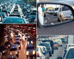 Apensar atasco de carros